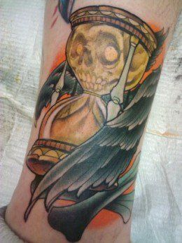 Hourglass Tattoo Designs and Meanings