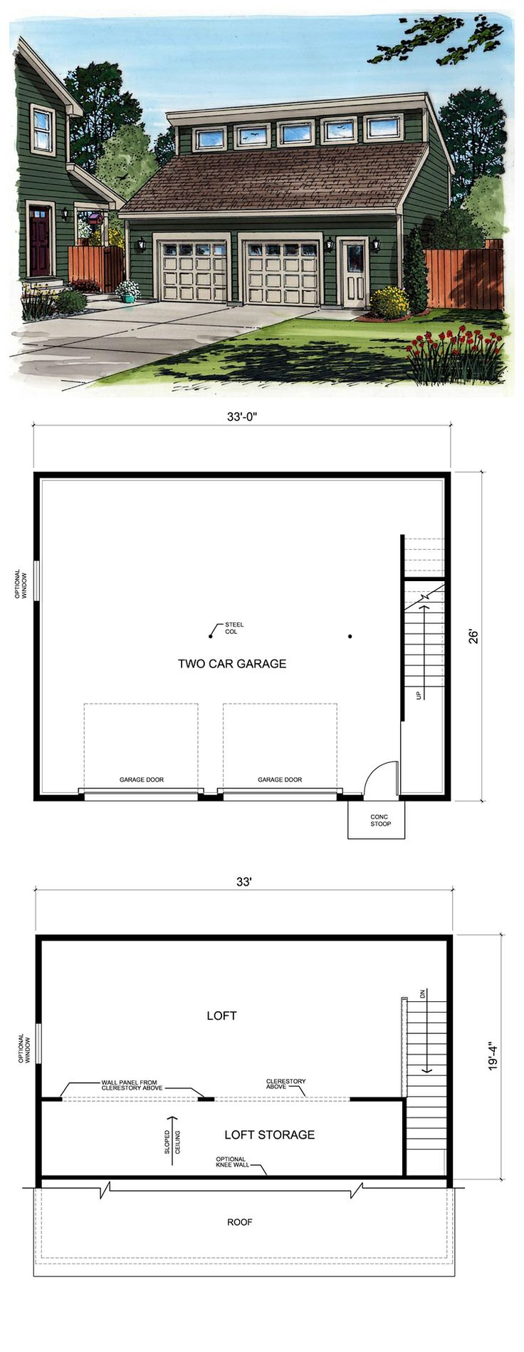 27 best two car garage plans images on pinterest garage plans contemporary garage plan 30011