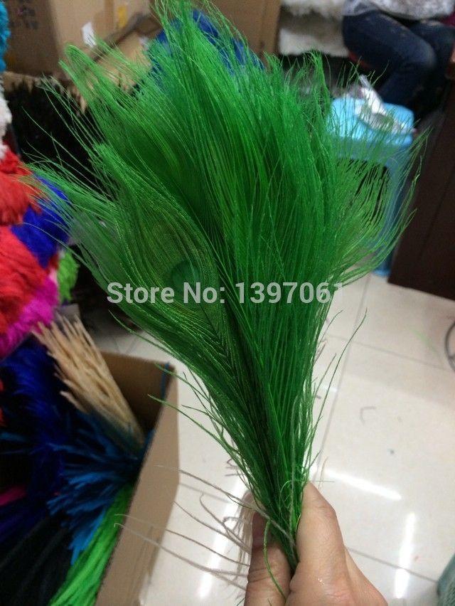 Sleva položka barevné paví peří paví peří na svatební stůl vrchol, 100 kusů -25-30cm (Čína (pevninská část))
