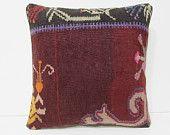 retro pillowcase 18x18 vintage pillowcase modern cushion cover floor cushion cover bohemian cushion oversize cushion kilim pillow sham 26778