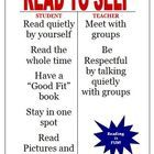 Here is a FREE Daily 5 Read to Self I Chart that we use in our intermediate classroom.