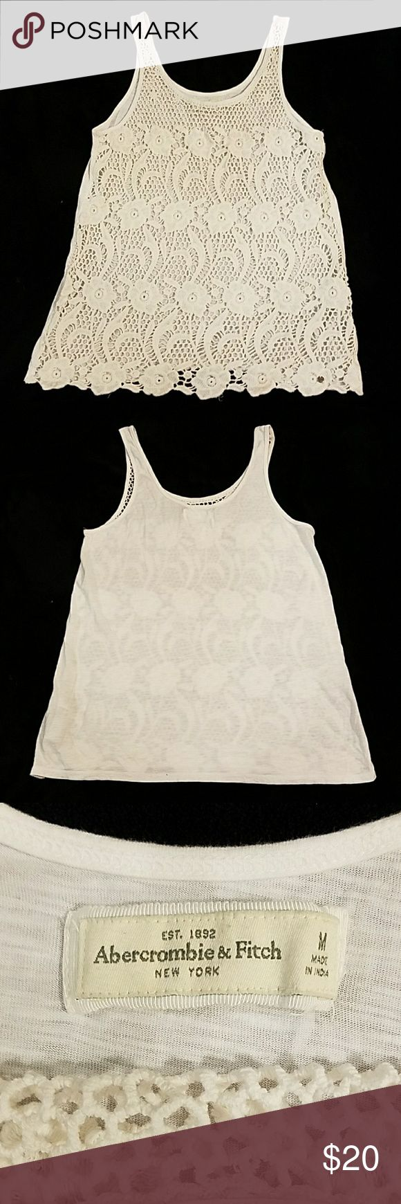 Abercrombie & Fitch crochet tank top EUC, no tears or stains, smoke-free home! Abercrombie & Fitch Tops Tank Tops