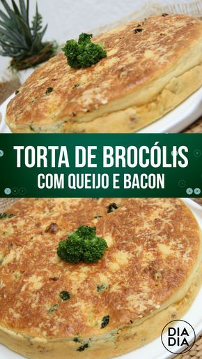 Torta de Brócolis com Queijo e Bacon