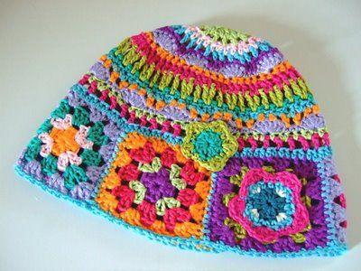 granny square hat  a14c9a655cf
