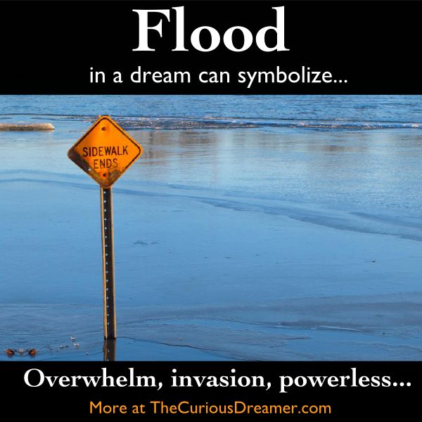 A flood as a dream symbol can mean... More at TheCuriousDreamer... #dreams #dreamsymbol #dreammeaning