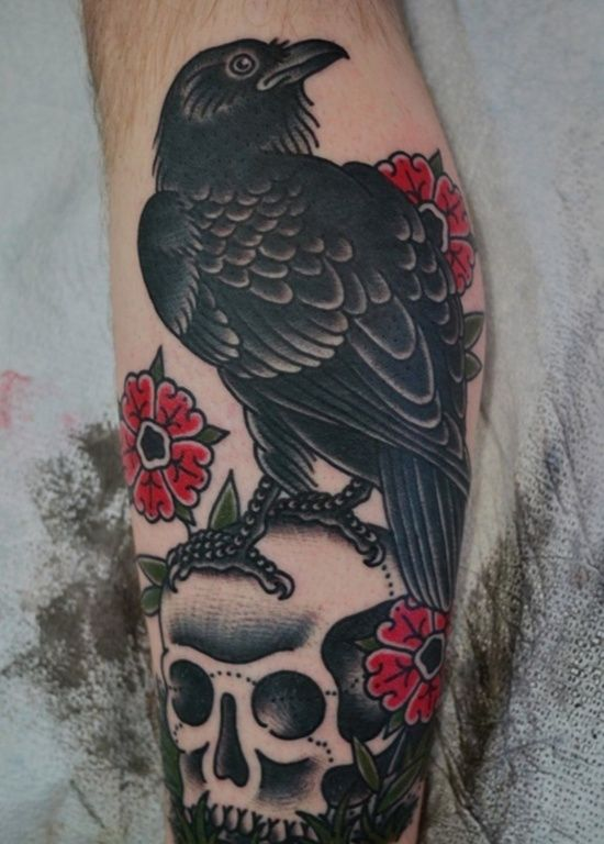 raven tattoos | As we have already mentioned, raven tattoos depict a variety of ...