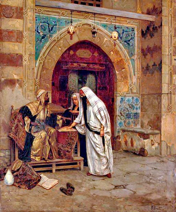 Rudolph Ernst - The Egyptian Fortune Teller Oil on panel , 64.8 x 53.3 cm