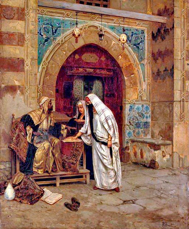 Rudolph Ernst - The Egyptian Fortune Teller Oil on panel , 64.8 x 53.3 cm