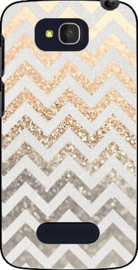 19E coque GATSBY GOLD CHEVRON pour Alcatel One Touch Pop C7