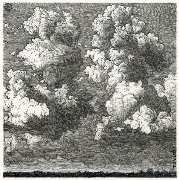 """Storm?"" 4 x 4 in, Pen and Ink, 2013 by Taylor Mazer, via Behance"