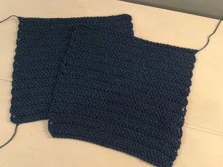 Herring bone crochet bag
