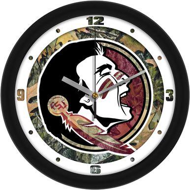 NCAA Florida State Seminoles Camo Wall Clock