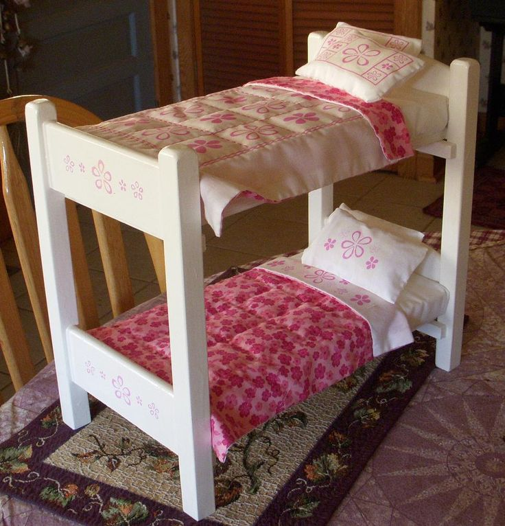 1 6 Scale Bunk Beds Matching Bedding For Barbie Size