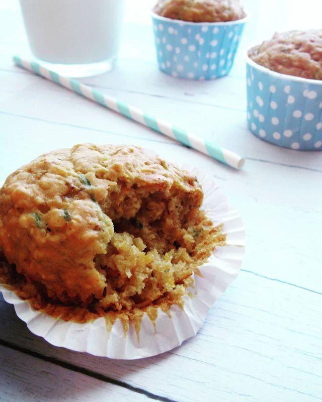 Muffins for Sunday breakfast  With #carrots #zucchini #honey #banana #oat…