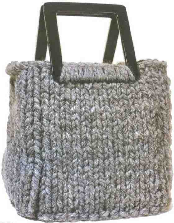 Volumetric knitted bag: free pattern/tutorial