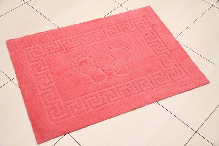 Malinowy dywanik łazienkowy