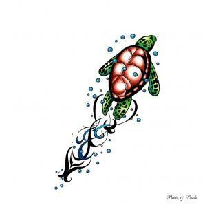 Home Sea Turtle Tribal Tattoo