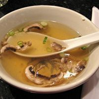 Hibachi soup from Japanese restaurant
