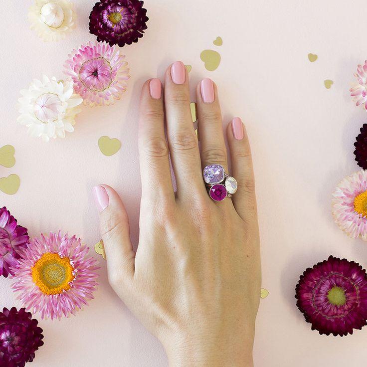 Provence MKD Summer 2018 Stacker Ring Set #bling #MarisaKateDesigns #Swarovski #crystal #jewel #sterlingsilver