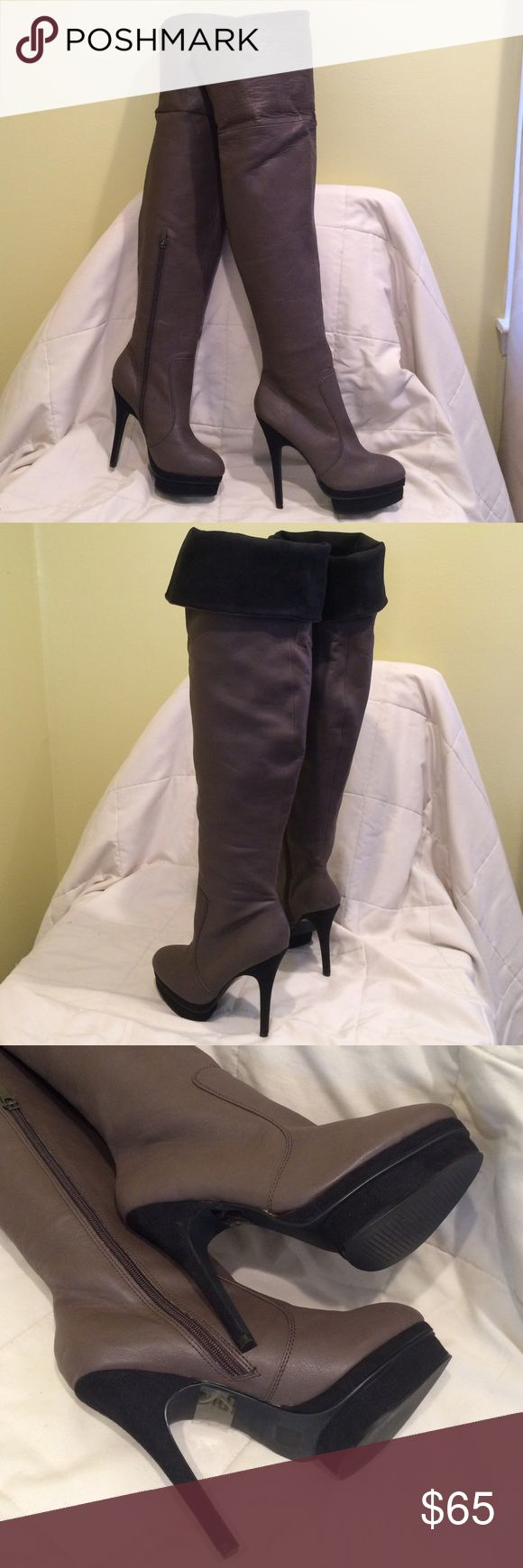🎄SALE🎄COLIN STUART thigh high boots - brand new COLIN STUART - Authentic - Brand new thigh high boots cocoa color with black suede (all manmade material) new still with tags, No Box. Never worn.💕 Colin Stuart Shoes Over the Knee Boots