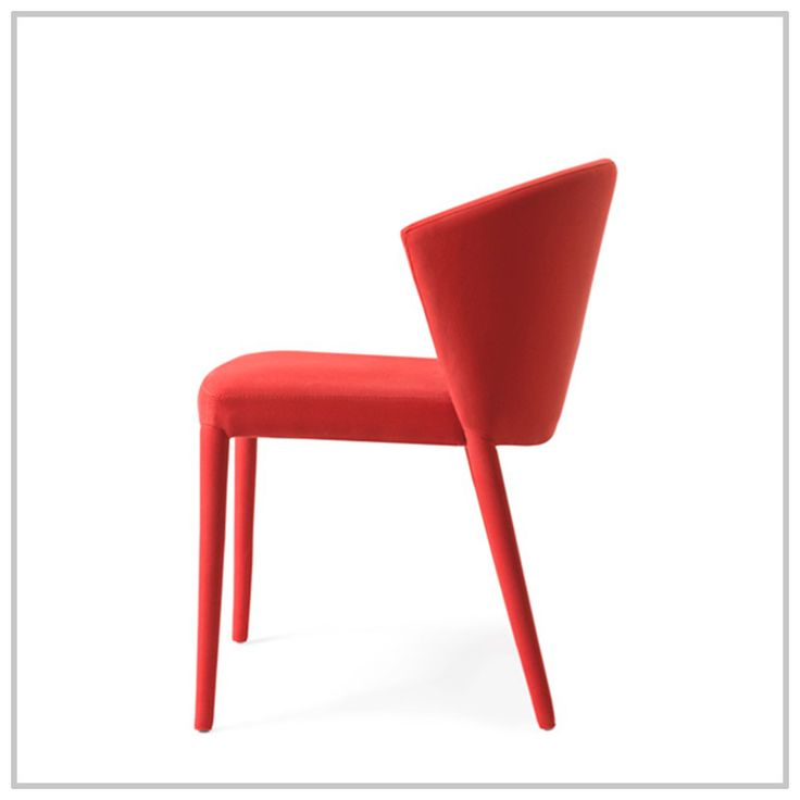AMÉLIE is a chair with smooth lines, and a unique and contemporary design. The large wrap-around backrest and the seat supported by elastic belts guarantee maximum comfort and softness #chair #living #Calligaris