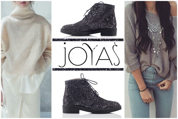 A pair of black boots with glitter are a perfect way to add style to your every day outfits @joyasromania