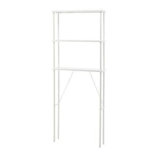 IKEA - DYNAN, Open opberger, , Met open planken voor een goed overzicht en een makkelijke bereikbaarheid.Met de verstelbare poten kan je eventuele oneffenheden in de vloer opvangen.Perfect voor een kleine badkamer.
