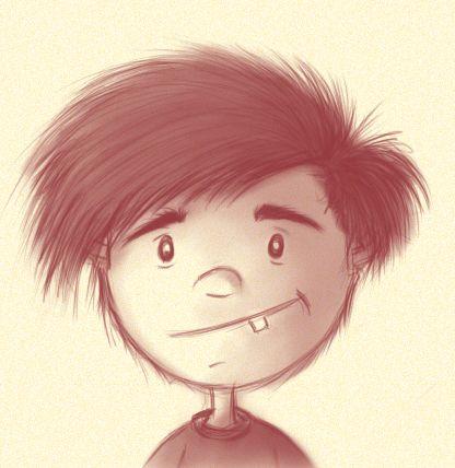 Boceto de Personaje.  Ilustración Digital. Autor: José Zúñiga.