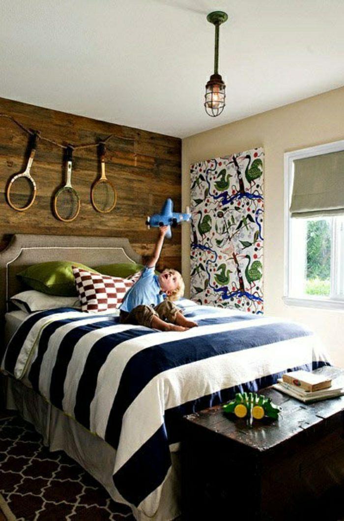 une chambre à coucher, bien décorer de style marin, petit enfant garçon, décoration