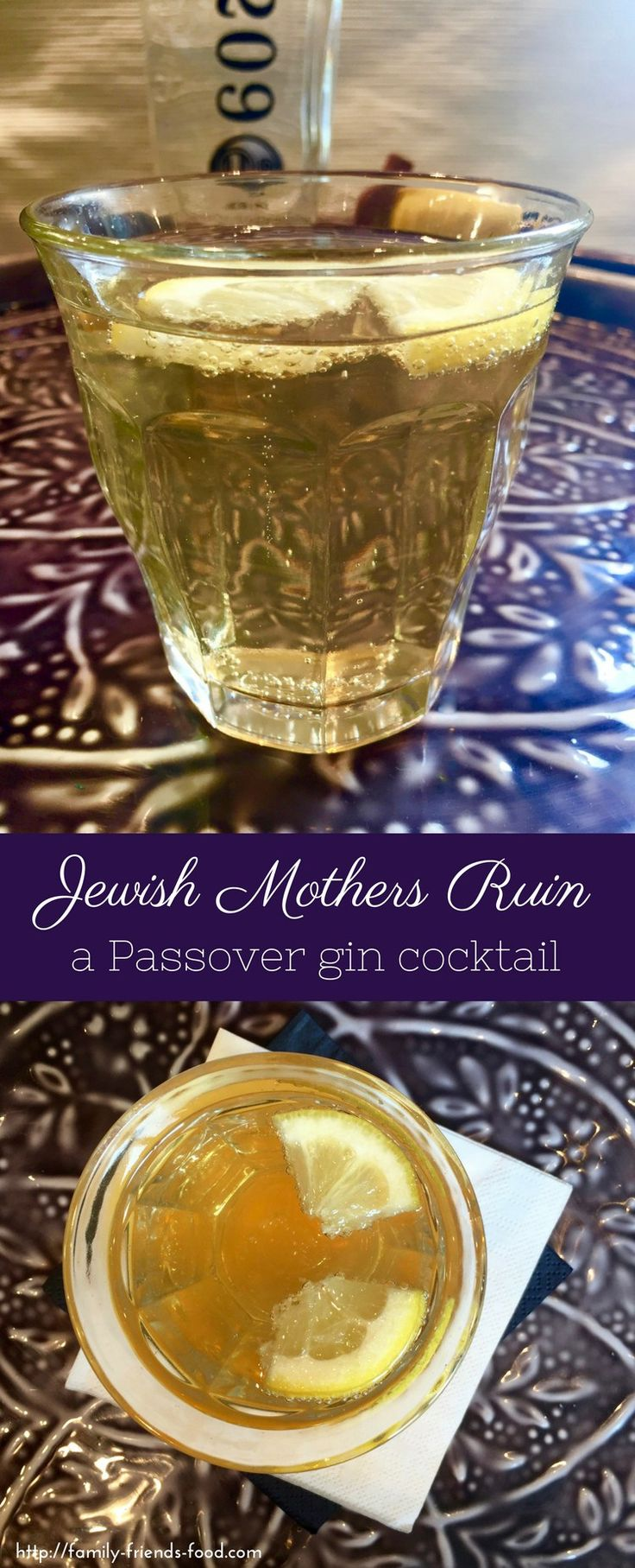 There really is a KOSHER FOR PASSOVER GIN! Time to mix yourself a well-earned cocktail. Jewish Mothers Ruin is the perfect tipple to relax with this Pesach. #passover #gin #cocktail #jewishfood