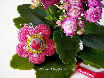 Mój własny kreatywny świat: Różowy kwiatek