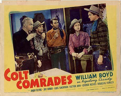 Vintage william boyd movie poster colt camaradas