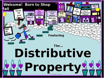 This is a great lesson that teaches students how to use the distributive property in algebra. * They use a rectangular model and the distributive property to calculate the area of a rectangle. * They use the distributive property with addition and with subtraction. *