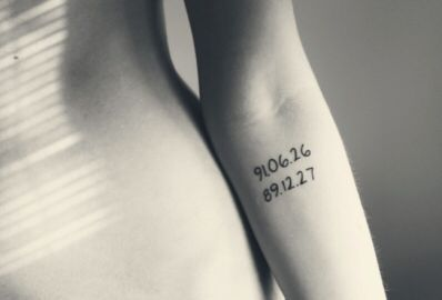 Geburtsdaten Tattoo