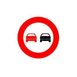 No overtaking road sign CAD symbol