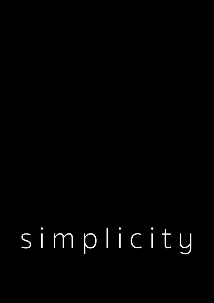 Simplicity – Sort   twitterpated.dk