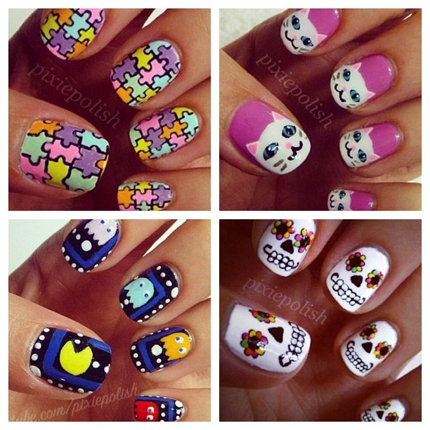 50 best crazy nail art images on pinterest architecture candy crazy nail art by pixiepolish on instagram prinsesfo Images