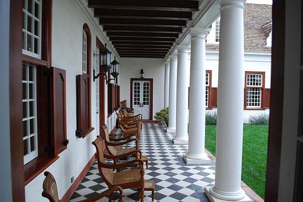 nice pillars and window treatments