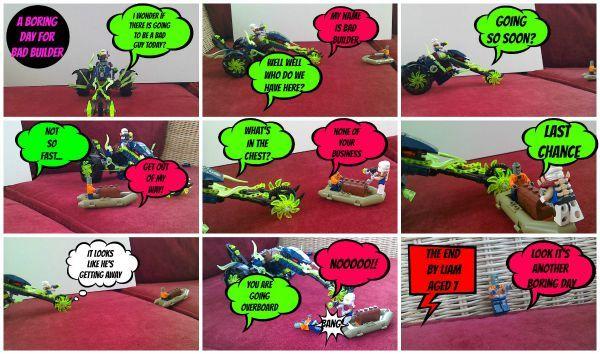 superhero comic photo strip