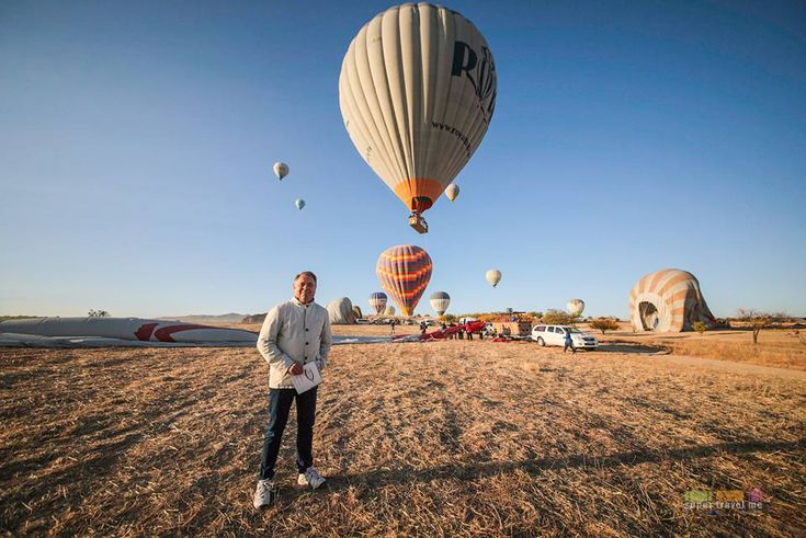 Filip Boyen after hot air balloon flight in Cappadocia
