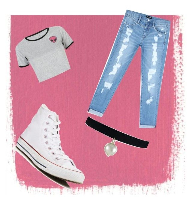 """aa"" by cosmina-styles-alina on Polyvore featuring WithChic, Bebe and Converse"