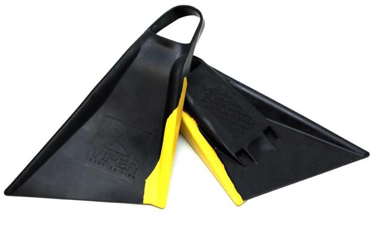 Viper Delta Bodyboard Fins - Black/ Yellow Your Local Bodyboard Shop - Australia & Worldwide