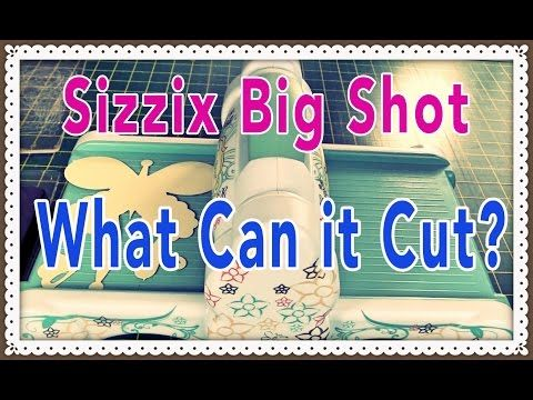 Sizzix Big Kick / Big Shot Tutorial How to use Spellbinders dies and Cuttlebug…
