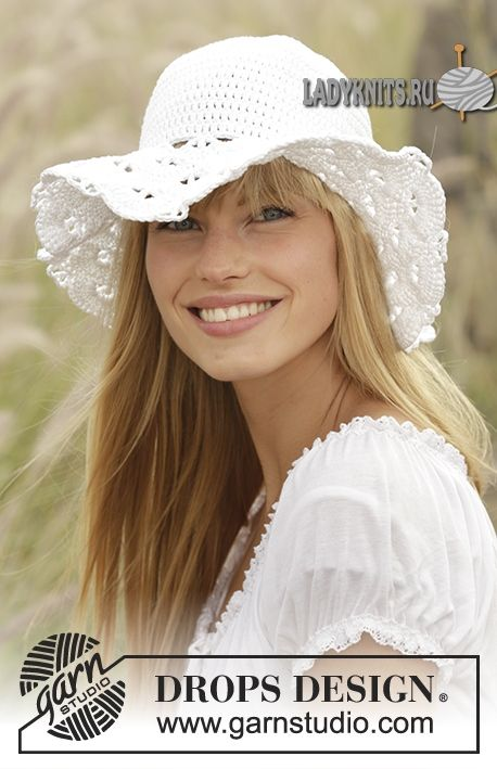 """Вязаная крючком женская шляпа """"Деревенская девушка"""""""