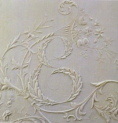 """""""From a long out-of-print unnamed Italian book on beautiful monogram embroidery."""""""