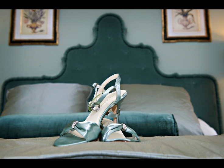 Shoes in Trinity Suite.