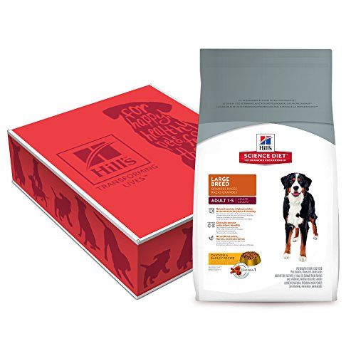 Hills Science Diet Adult Large Breed dog food provides precisely balanced nutrition tailored for a visible difference in large breed dogs.  Health Benefits:Joints Lifestage:Adult Ingredients: Ingredie...