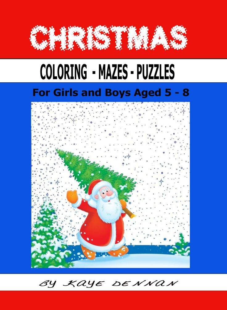 Christmas activity book. Click to view. Coloring mazes and puzzles.