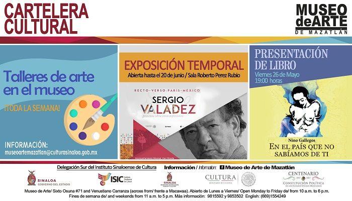 Cartelera cultural del Museo de Arte de Mazatlán