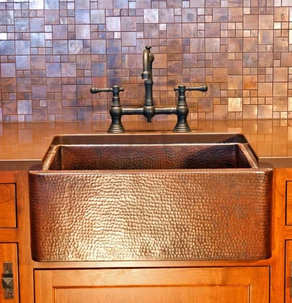 Apron Sink Vintage Apron And Custom: 92 Best Custom Copper Kitchen Sinks Images On Pinterest
